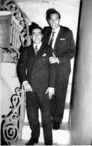 Roberto Dumas (arriba) y Julio Castel - Carnaval marzo 1960 en Cine Real, organizó Británica F.C.